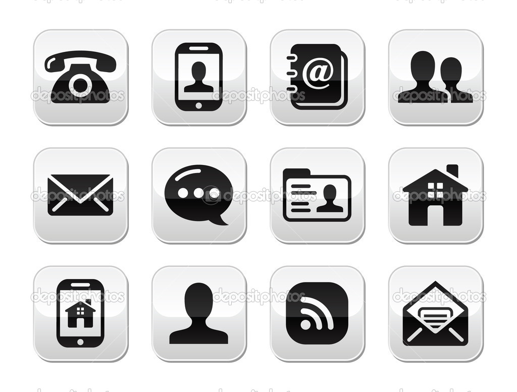8 Telephone Button Icon Gray Images