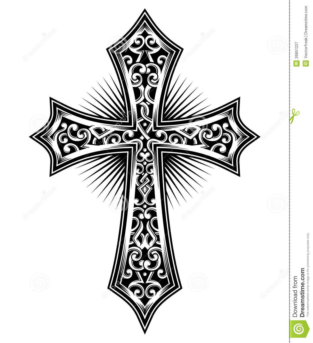 16 t shirt graphics vectors cross images free vector for Cross clipart
