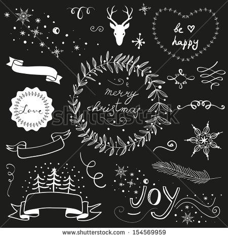 Chalkboard Christmas Graphics