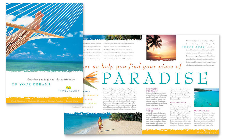14 Tourism Brochure Design Images Travel Agency Brochure Template