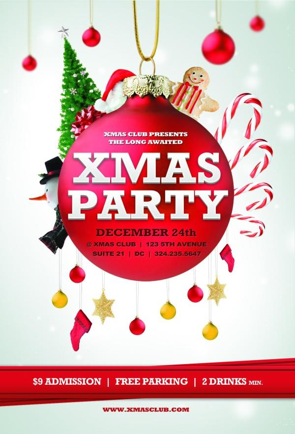 14 Christmas Party Flyer Psd Template Images Printable Christmas