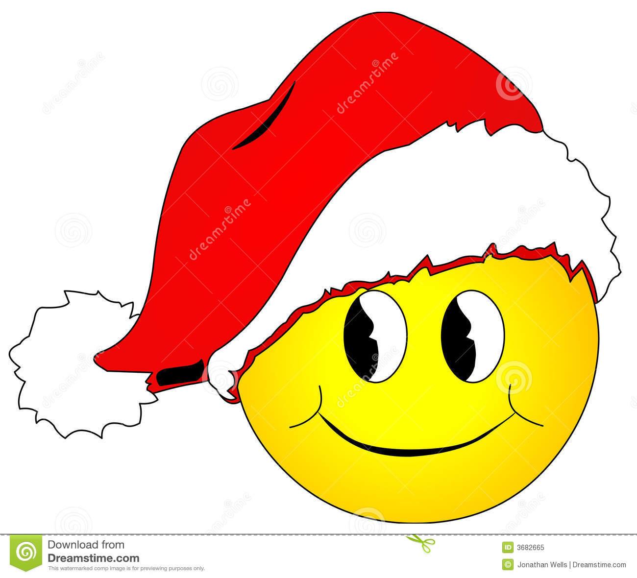 Christmas Smiley Face Clip Art