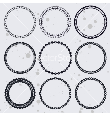 10 Free Vector Ornate Circle Frame Images - Floral Decorative Vector ...