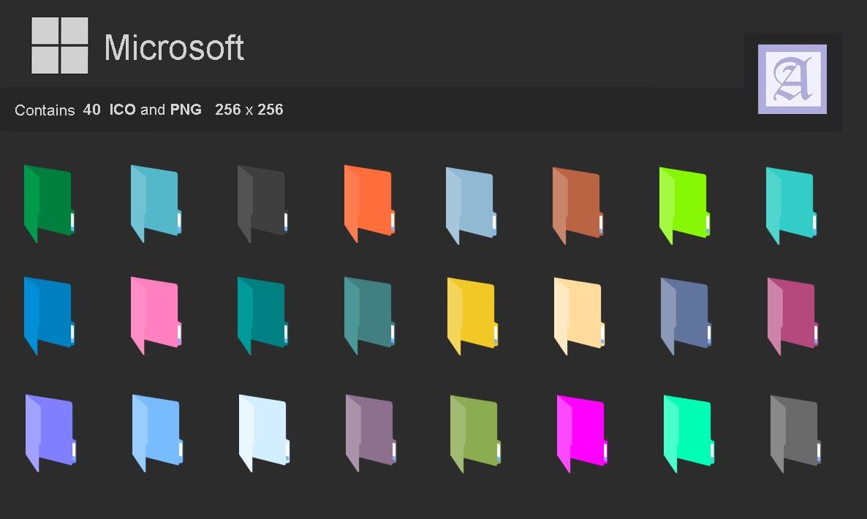 10 Windows Folder Icon Color Images - Windows Color Folder ...