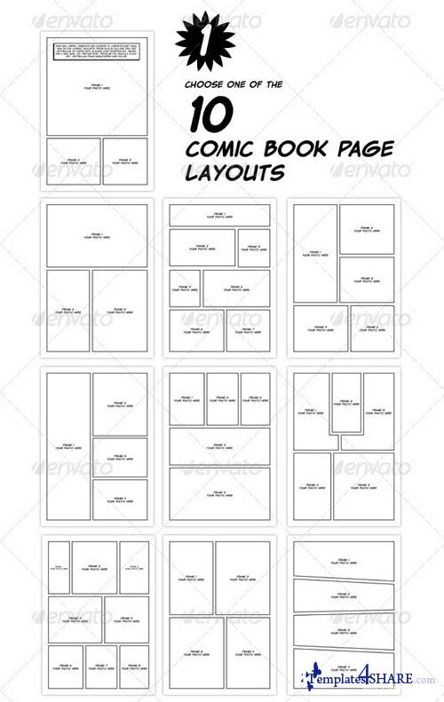 Comic Book Cover Template Psd : Comic book template psd images layout
