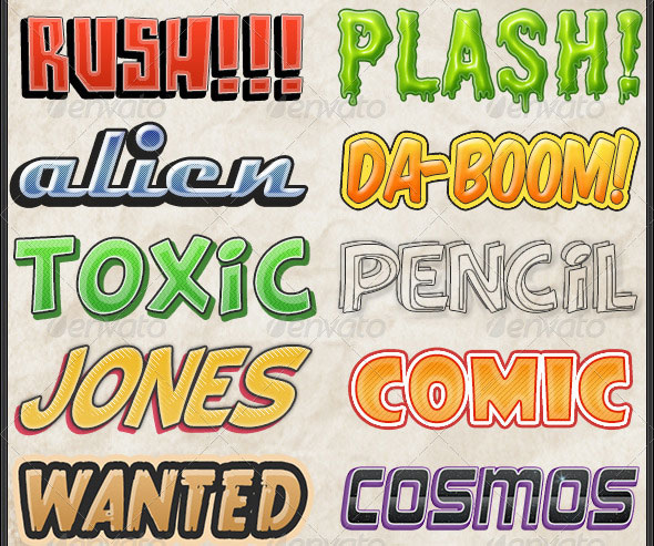 Comic Book Text Photoshop Style