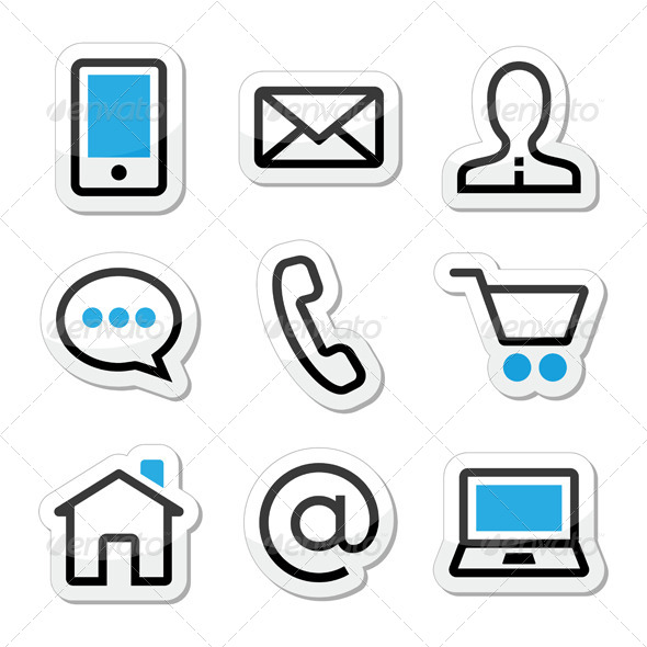 16 Vector Web Icons Contact Images