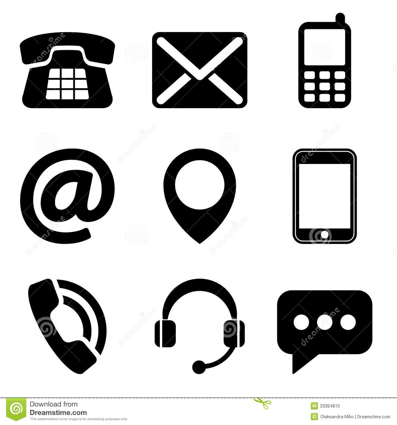 Contact Icon: 18 Phone Business Card Icons White Images