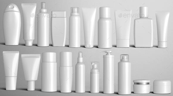 Cosmetic Packaging Mockup Psd Free