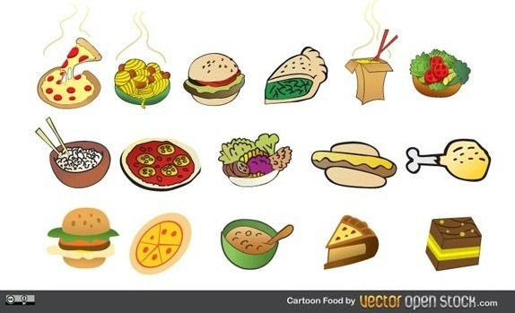 12 Vector Party Food Images