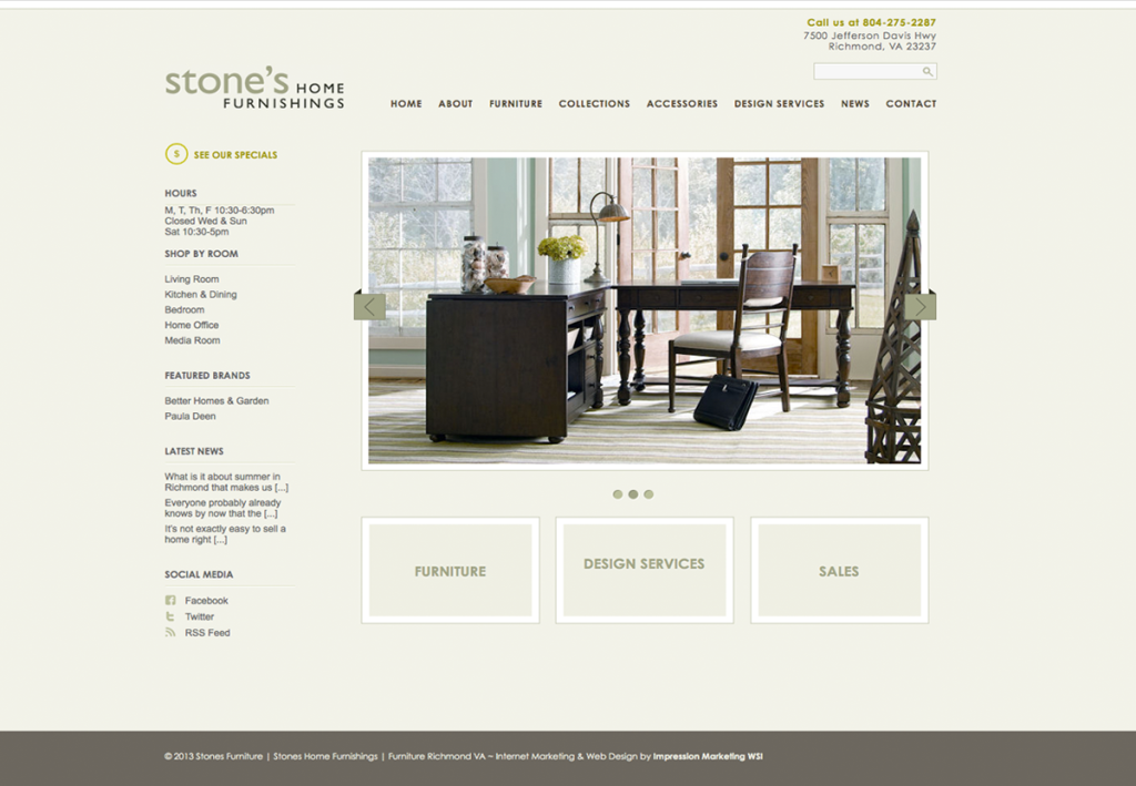 Design Furniture Website