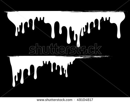 12 Black Paint Drip Vector Images
