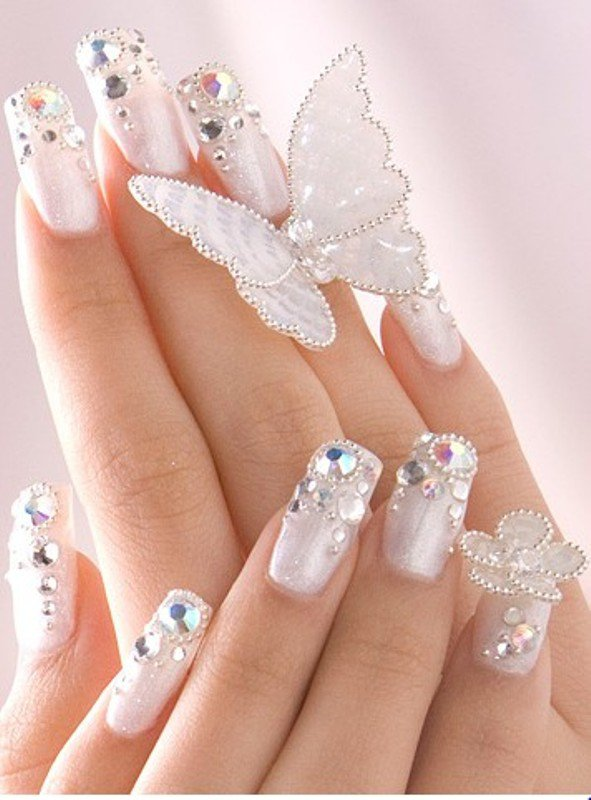 10 Elegant Nail Art Designs Images - French Manicure Nail Art ...