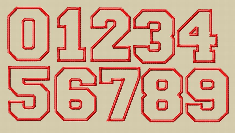 Number embroidery fonts designs images