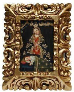 Folk Art Madonna and Child Painting