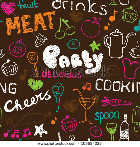 Food Doodle Pattern
