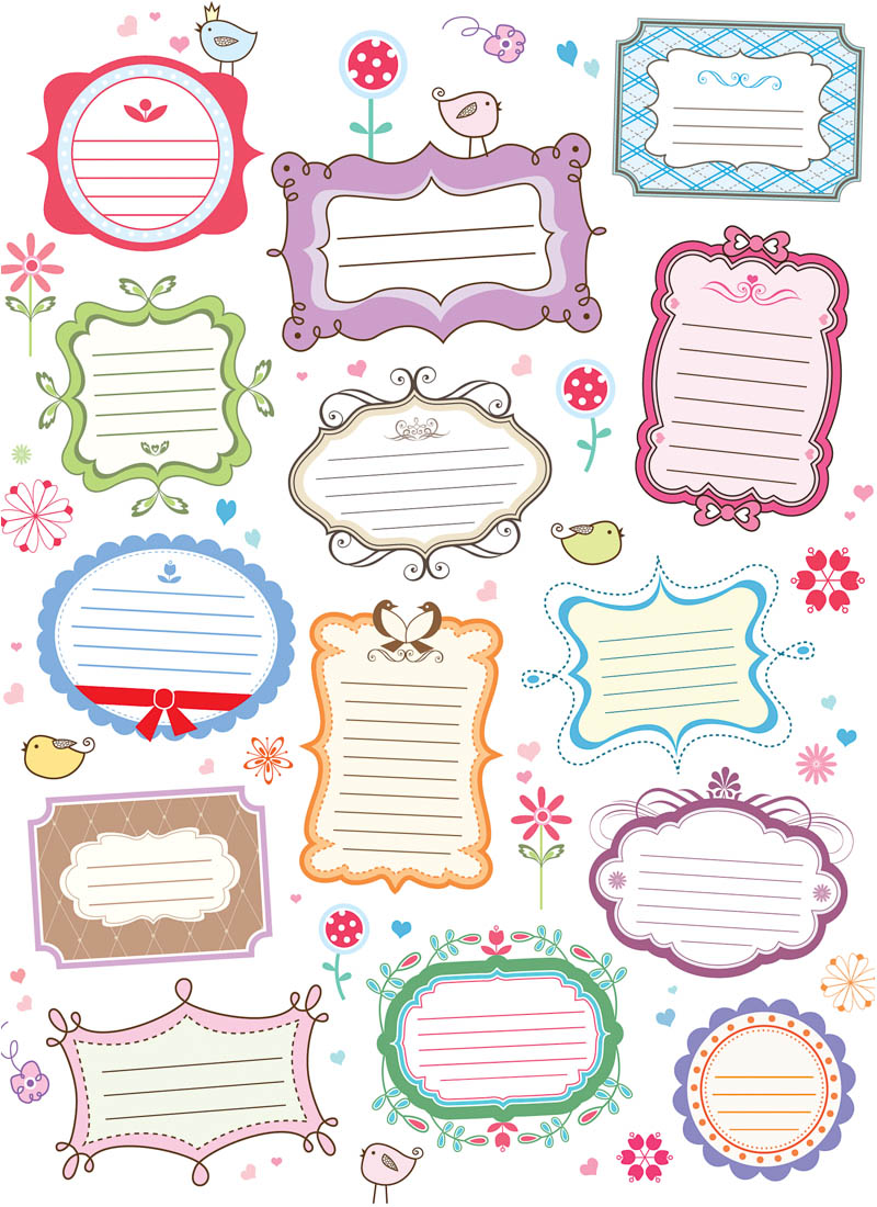 19 Fancy Label Vector Images Free Decorative Labels Frame 51625 Post 51624 Printable Shapes