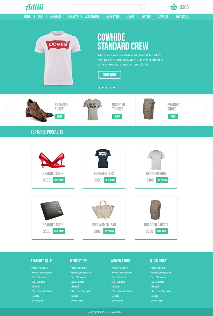 Free E-Commerce Website Template