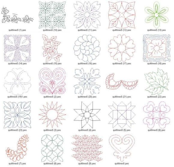 17 Free Machine Quilting Designs Images - Free Motion Quilting ... : free quilt embroidery designs - Adamdwight.com