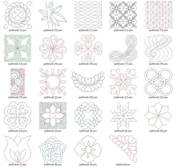 Continuous Quilting Designs For Embroidery Machine