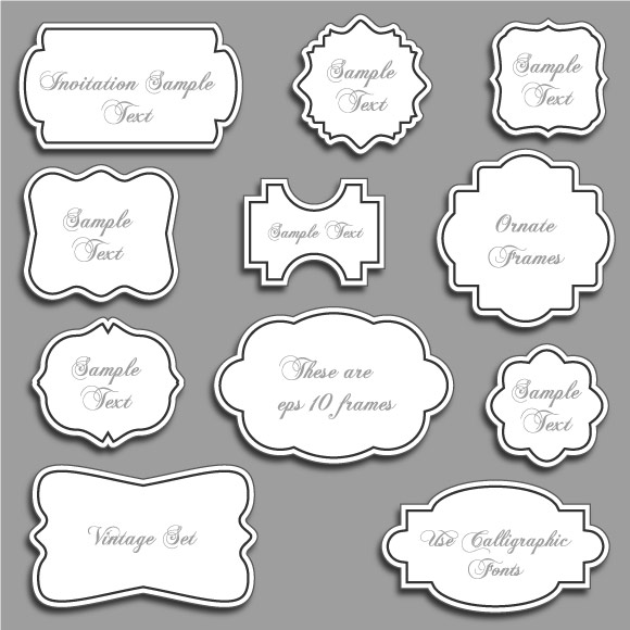 18 Ornate Vector Frames Free Images