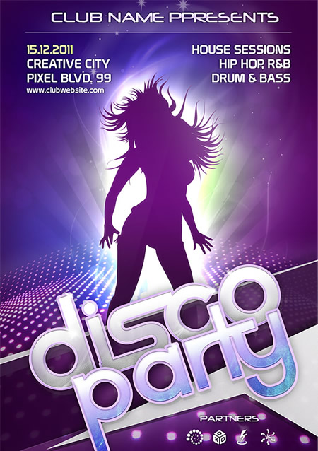 Free Psd Club Flyer Template