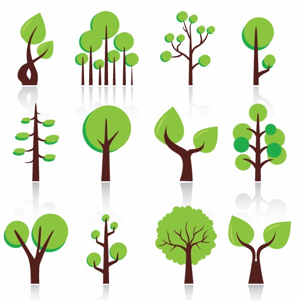 17 Abstract Tree Vector Free Images