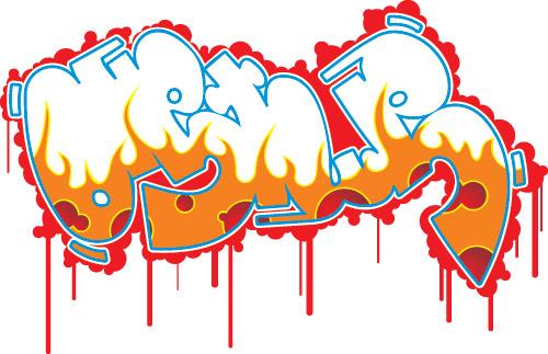 Free Vector Graffiti Cans