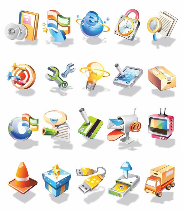 16 Free 3D Web Icons Sets Images