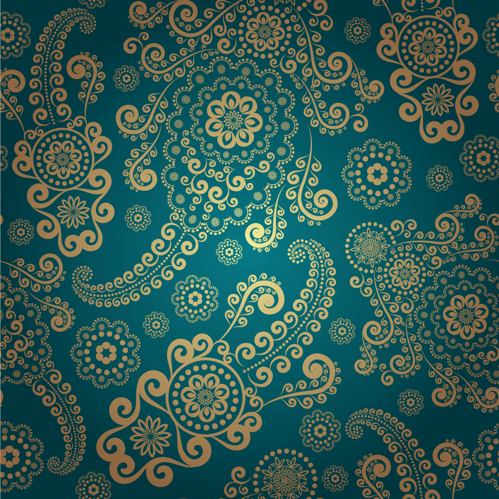 11 Free Vector Vintage Pattern Images