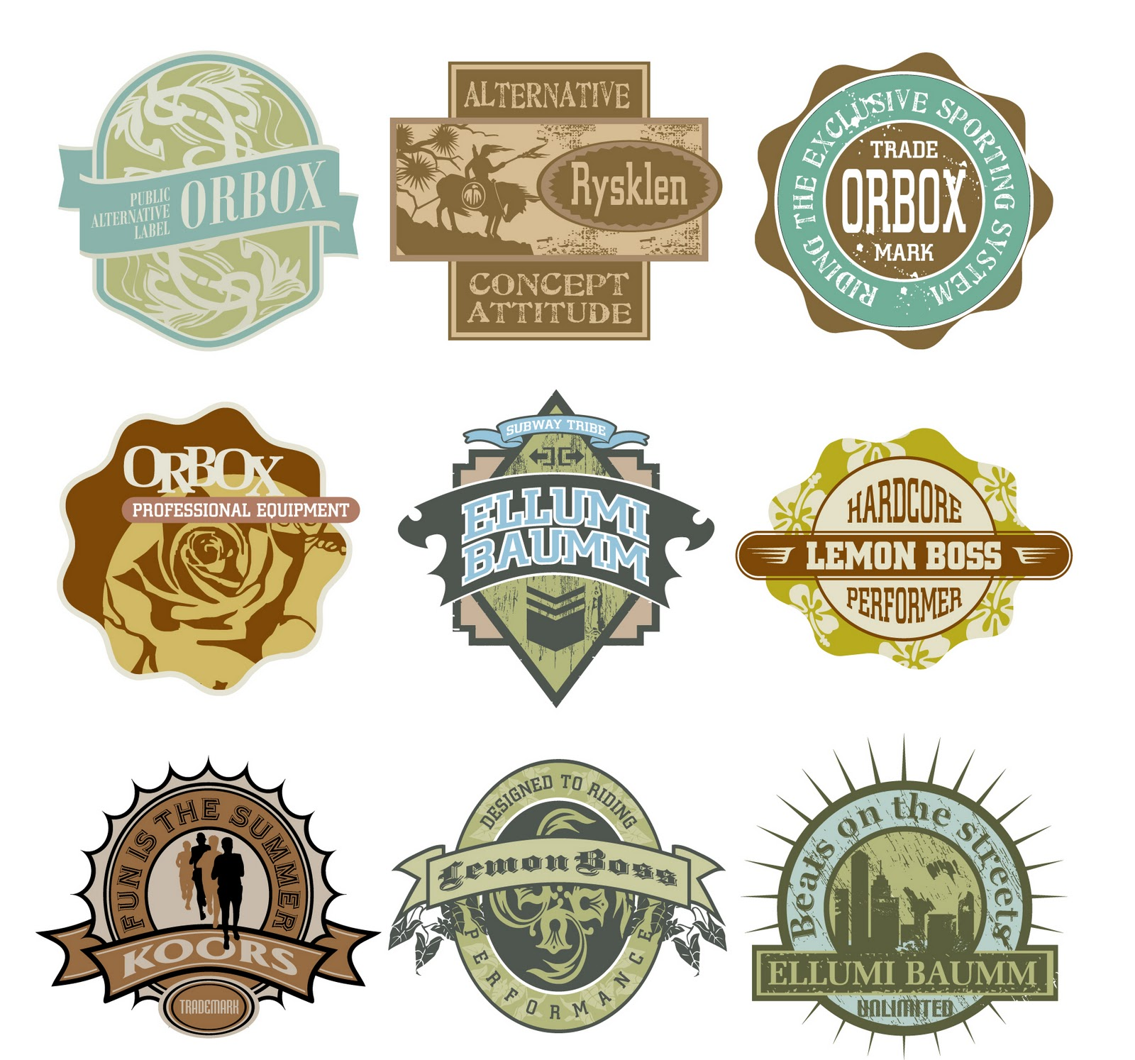Free Vintage Badge Vector Logos