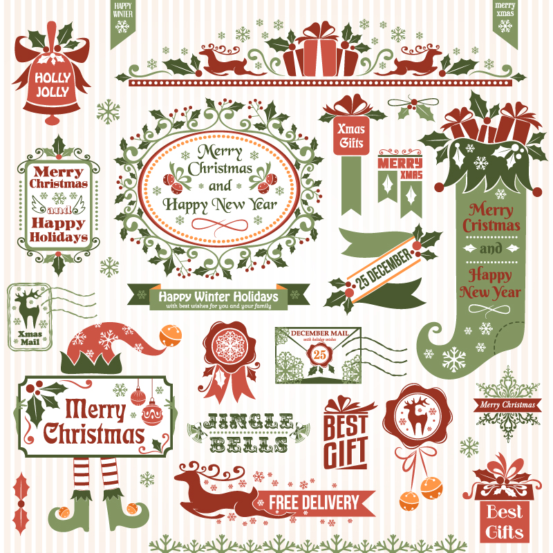 Free Vintage Christmas Vector Designs