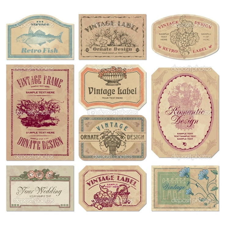 picture regarding Free Vintage Printable referred to as 19 Retro Label Templates Absolutely free Pics - Free of charge Typical Tag