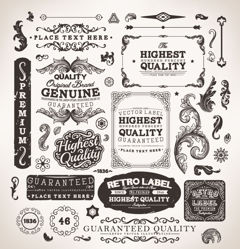 19 Fancy Label Vector Images - Free Decorative Labels ...