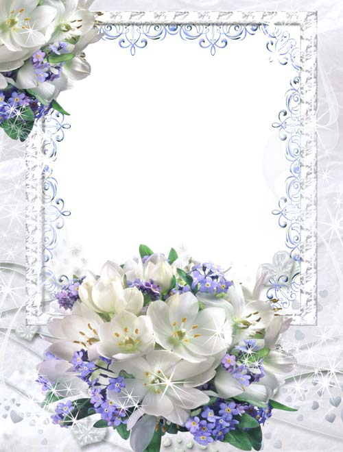11 White Flower Frames Psd Images