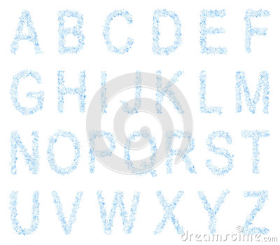 Frosty Letters Font