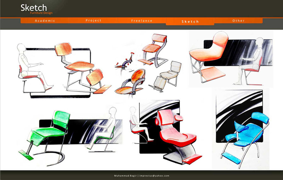 Furniture Design Sketch Portfolio