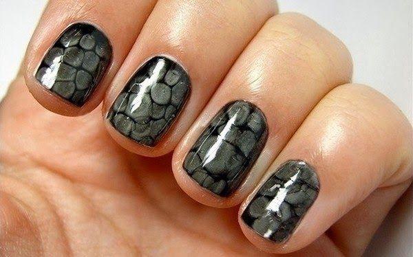 Gel Nail Polish Snake Skin Art