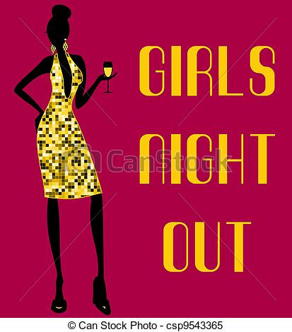 9 Vector Girls Night Images