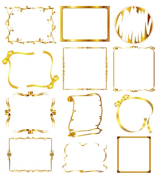 Gold Ornate Frame Vector