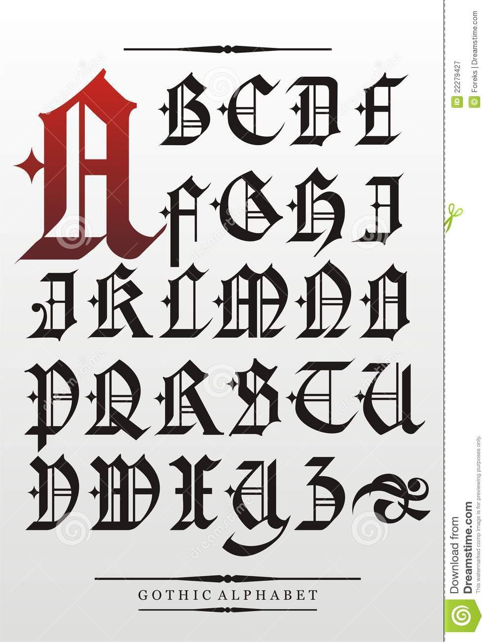Писать готическим шрифтом онлайн 18 фотография