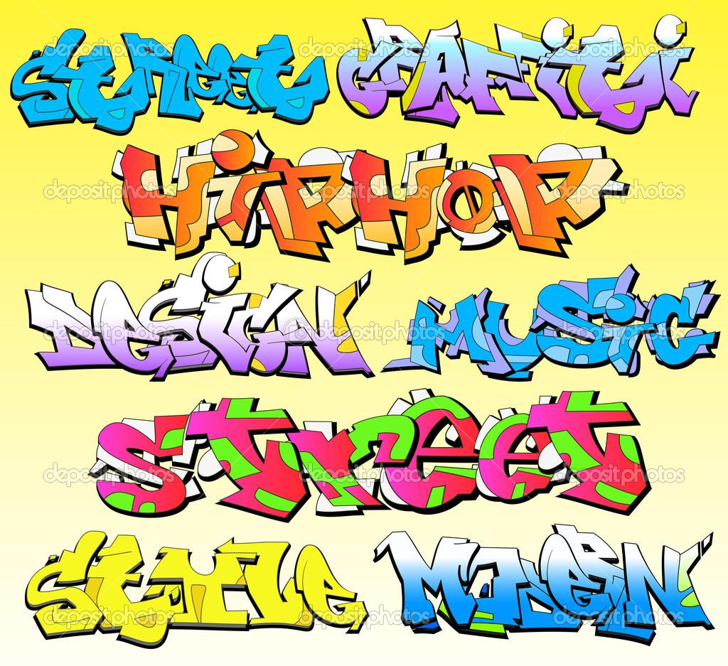 Graffiti Fonts Vector Art