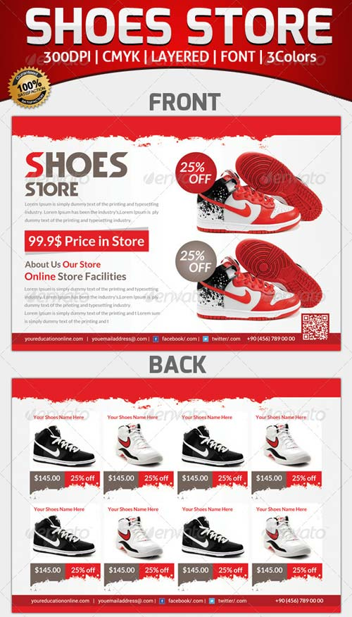 GraphicRiver Template Product Flyer Shoes