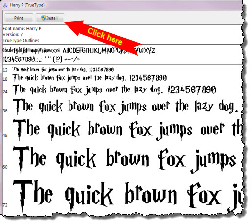 14 Harry Potter Font For Microsoft Word Images