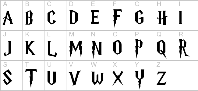 Harry Potter Letter Font