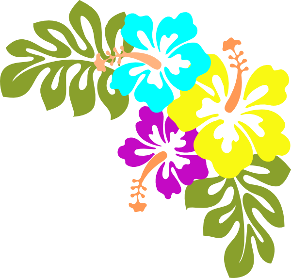 9 Hawaiian Flower Clip Art Vector Free Images