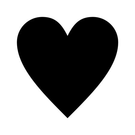 Heart Shape Stencil Template