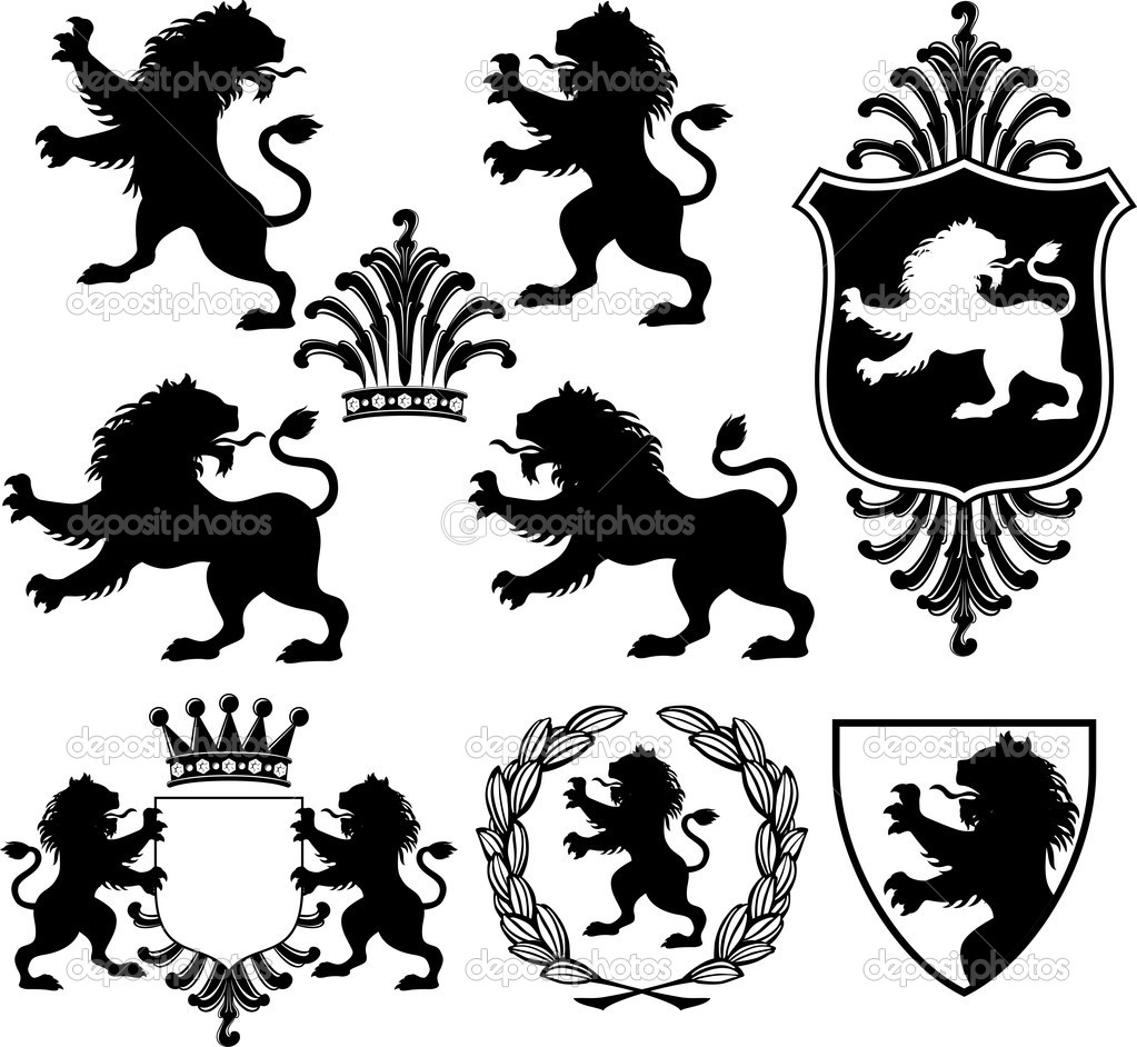 13 Lion And Shield Vector Images
