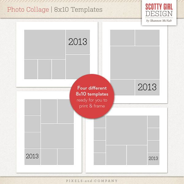 Horizontal Collage Template