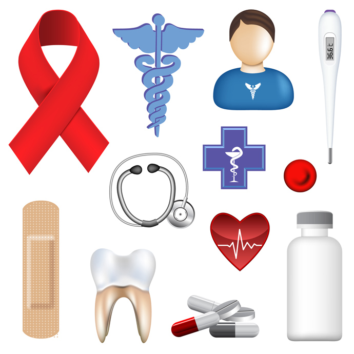 9 Medical Icons Free Vector Green Images